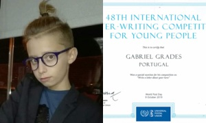 Jovem souselense recebe Menção Honrosa no 48th International Letter-Writting Competition for Young People